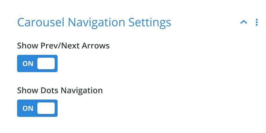 Divi Image Carousel Navigation Settings