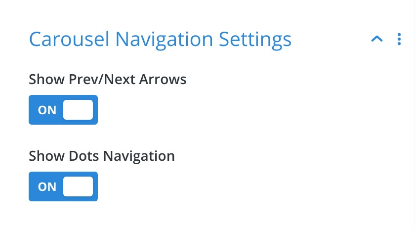 Carousel Navigation Settings - Divi Product Carousel