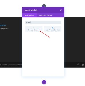 Add Product Carousel Module On Divi Page