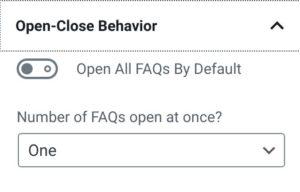 Open-Close Behavior Setting