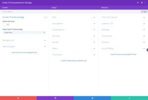 Setup Covid-19 Announcement Divi Module
