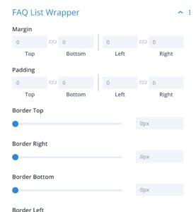 FAQ List Wrapper - Divi Module
