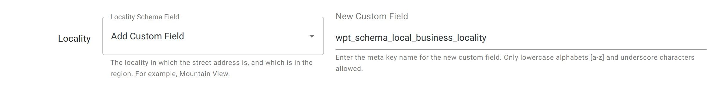 Locality - Local Business Schema - WordPress Schema Plugin